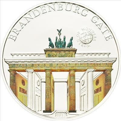 Palau - 2012 - 5 Dollars - World of Wonders BRANDERBURGER GATE (incl box) (PROOF)