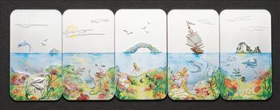 Palau - 2012 - 5 x 2 Dollars - Endless Paradise SET (incl box) (PROOF)