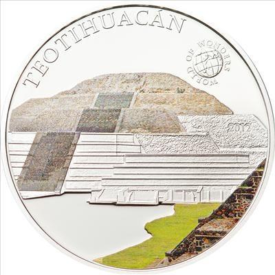 Palau - 2012 - 5 dollars - World of Wonders TEOTIHUACÁN (including box)  (PROOF)