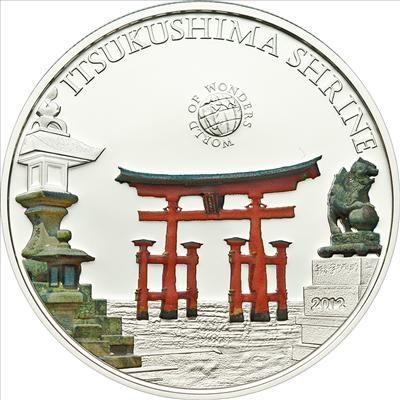 Palau - 2012 - 5 Dollars - World of Wonders ITSUKUSHIMA SHRINE (incl box) (PROOF)