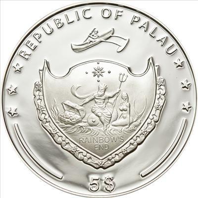 Palau - 2012 - 5 Dollars - Flora & Mountains TABLE MOUNTAIN (incl box) (PROOF)