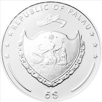 Palau - 2012 - 5 dollars - World of Wonders WESTERN WALL (including box) (PROOF)
