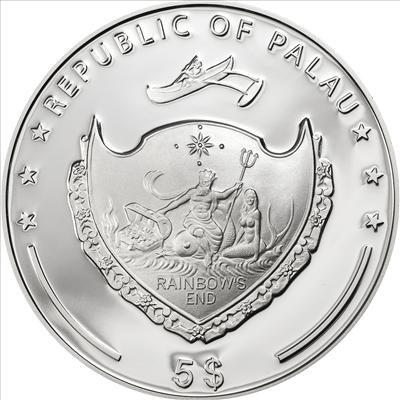 Palau - 2013 - 5 dollar - Four Leaf Clover 2013 (including box) (PROOF)