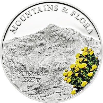 Palau - 2013 - 5 dollar - Mountains & Flora MUSALA (including box) (PROOF)