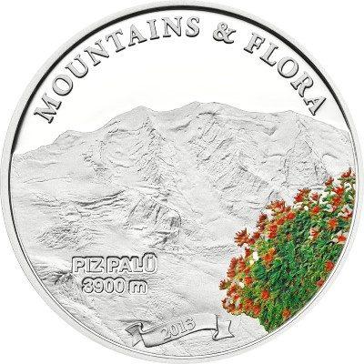 Palau - 2013 - 5 dollar - Mountains & Flora PIZ PALU (including box) (PROOF)