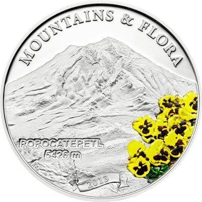 Palau - 2013 - 5 dollar - Mountains & Flora POPOCATEPETL (including box) (PROOF)