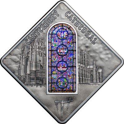 Palau - 2015 - 10 Dollars - Sacred Art CANTERBURY CATHEDRAL (including box) (PROOF)