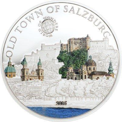 Palau - 2016 - 5 Dollars - World of Wonders OLD TOWN SALZBURG (including box) (PROOF)
