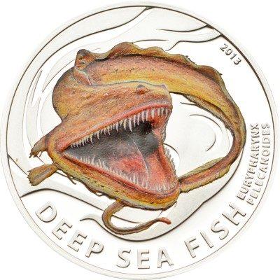 Pitcairn Islands - 2013 - 2 dollars - Deep Sea Fish EURYPHARYNX PELECANOIDES (Including box) (PROOF)