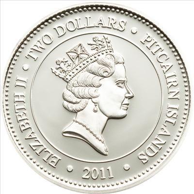 Pitcairn Islands - 2011 - 2 Dollars - Jellyfish Chrysaora (issue 3) (PROOF)