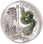 Rwanda - 2013 - 500 Francs - Year of the Snake GREEN PAVÉ      (PROOF)
