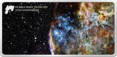 Samoa - 2015 - 5 Dollar - Hubble Space Telescope (PROOFLIKE)
