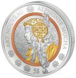 Samoa - 2016 - 5 Dollars - Art Nouveau ALPHONSE MUCHA (PROOFLIKE)