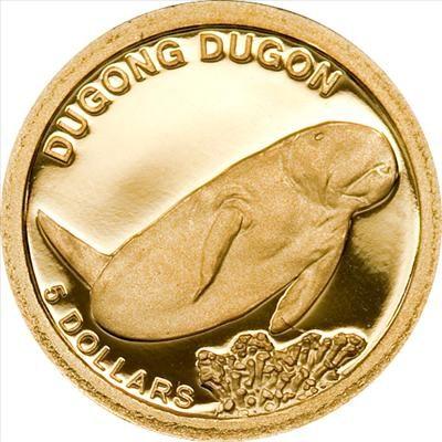 Solomon Islands - 2011 - 5 Dollar - Dugong Dugon (PROOF)