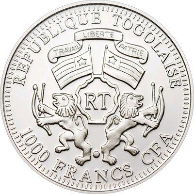 Togo - 2010 - 1000 Francs - Prisma Sunbirds Blue (PROOF)