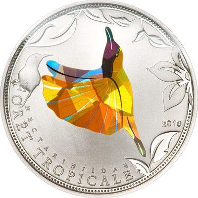 Togo - 2010 - 100 Francs - Prisma Sunbirds Yellow (PROOF)