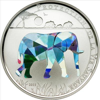 Togo - 2011 - 100 Francs - Prisma Savanne ELEPHANT (PROOF)