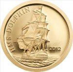 Tokelau - 2012 - 5 Dollars - HMS Dolphin (small gold) (PROOF)