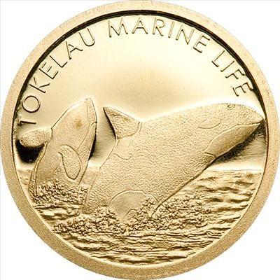 Tokelau - 2012 - 5 Dollars - Orca (small gold) (PROOF)