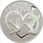 Tokelau - 2012 - 5 Dollars - Peace & Love hologram (with box) (PROOF)