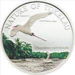 Tokelau - 2012 - 5 Dollars - Nature Tropic Bird SILVER (incl box) (PROOF)