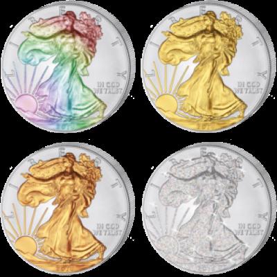 USA - 2014 - 4x1 Dollar - Eagle FOUR SEASONS (BU)