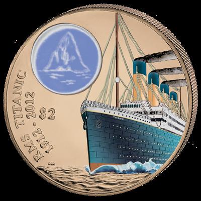 British Virgin Islands - 2012 - 2 dollar - Titanic Bronze (PROOF)
