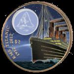 British Virgin Islands - 2012 - 2 dollar - Titanic at Night (PROOF)