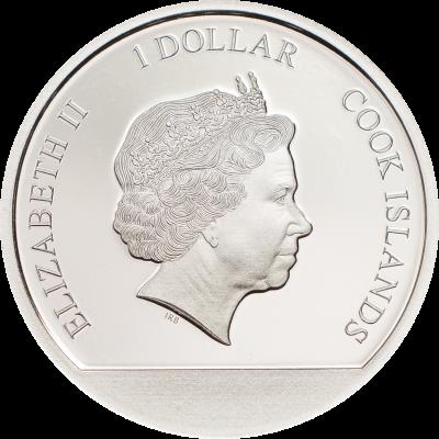 Cook Islands - 2017 - 1 Dollar - Cherry Blossom Globe
