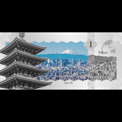 Cook Islands - 2017 - 1 Dollar - Skyline Dollar TOKYO