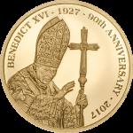 Cook Islands - 2017 - 5 Dollars - Pope Benedict XVI Small Gold
