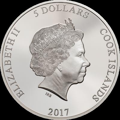 Cook Islands - 2017 - 5 Dollars - Magnificent Life COBRA