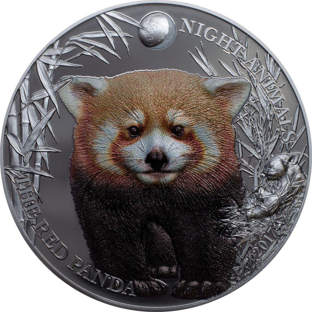 Cook Islands 2017 5 Dollars Night Animals Red Panda