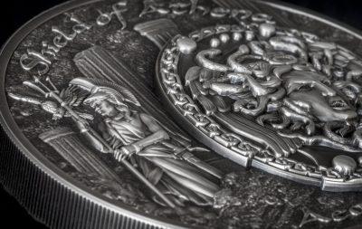 Cook Islands - 2018 - 10 Dollars - Shield of Athena Aegis