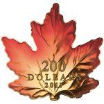 Canada - 2017 - 200 Dollars - Gold silver maple leaf cut out
