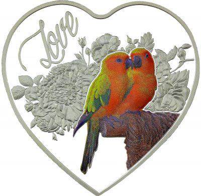 Tokelau - 2018 - 1 Dollar - Love Birds Heart Shaped