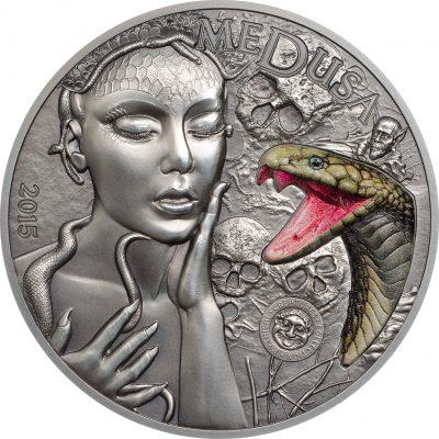 Palau - 2015 - 10 Dollars - Mythical Creatures: Medusa