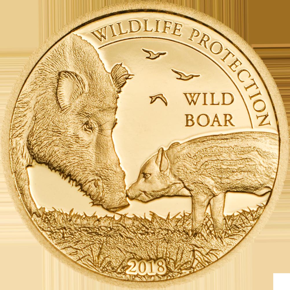 Mongolia - 2018 - 1000 Togrog - Wild Boar (small gold)