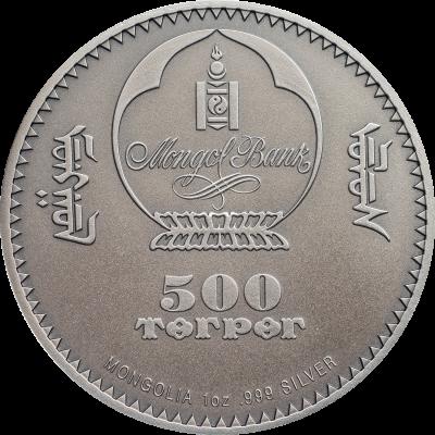 Mongolia - 2018 - 500 Togrog - Wild Boar Sus scrofa
