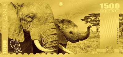 Tanzania - 2018 - 1500 Shillings - Big Five: Elephant