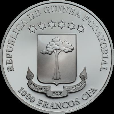 Equatorial Guinea - 2018 - 1000 Francs - Crystal Skull: Vanity