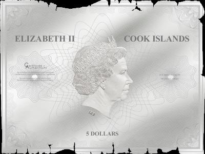 Cook Islands - 2018 - 5 Dollars - Waldseemüller – Historical Maps