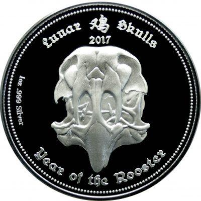 Gabon - 2017 - 3x 1000 Francs - Lunar Skulls: Year of the Rooster SET (1 PRF + 2 BU)