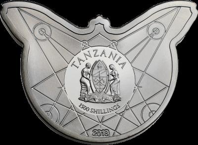 Tanzania - 2018 - 1500 Shillings - Death's Head Hawkmoth