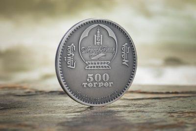 Mongolia - 2018 - 500 Togrog - Evolution of Life PTEROSAUR