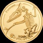 Mongolia - 2018 - 1000 Togrog - Evolution of Life PTEROSAUR small gold