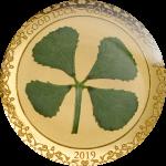 Palau - 2019 - 1 Dollar - Four Leaf Clover in Gold
