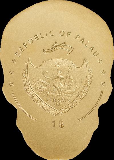 Palau - 2018 - 1 Dollar - Golden Catrina Skull