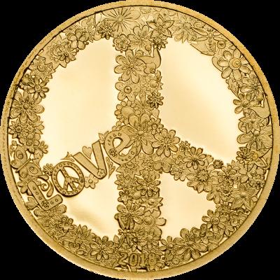 Palau - 2018 - 1 Dollar - Summer of Love GOLD