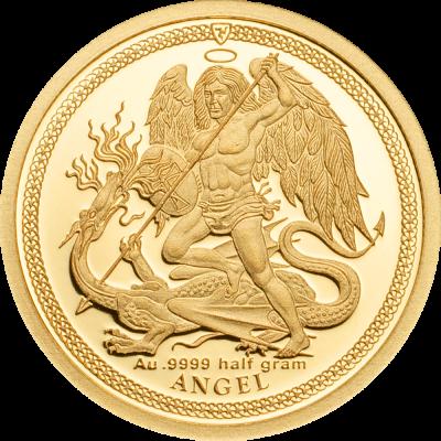 Isle of Man - 2018 - 1/64 Angel 2018 small gold